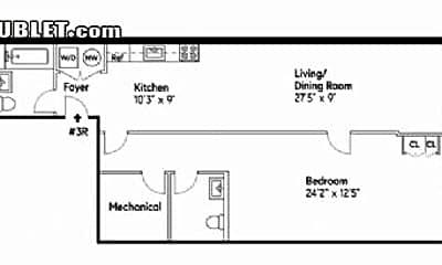 Bathroom, 414 W 45th St, 2