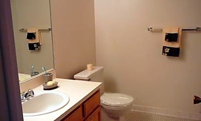 Bathroom, Willow Tree Apartments, 2