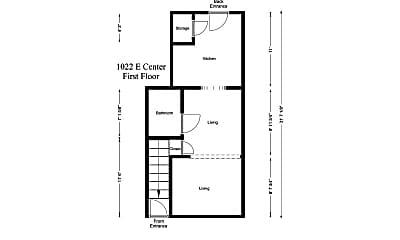 Building, 1020 E Center St, 1