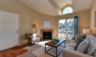 Living Room, The Cottages Apartments, 0