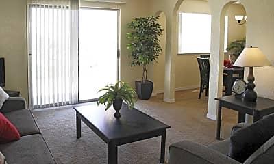 Living Room, Overlook Apartments, 1