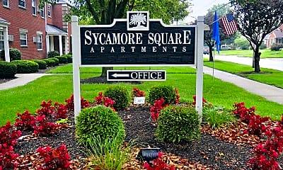 Community Signage, Sycamore Square, 2