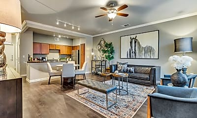 Living Room, Mustang Park Apartments, 1