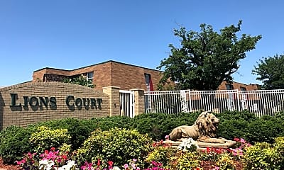 Community Signage, Lions Court Apartments:  1200 Thompson Road, 0