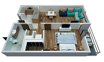 Patio / Deck, 300 W 2nd St, 2