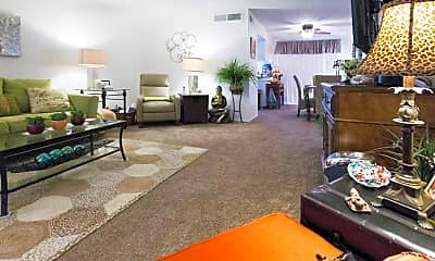 Living Room, Meadowbrook Apartments, 1