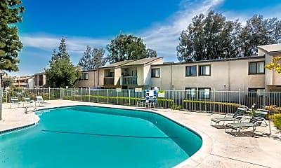 Pool, Spring Tree Apartments, 1