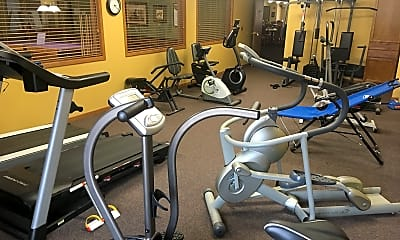 Fitness Weight Room, The Crossings at Brookwood 55+ Award Winning Community, 2