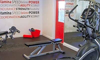 Fitness Weight Room, Westbrook Apartments, 2