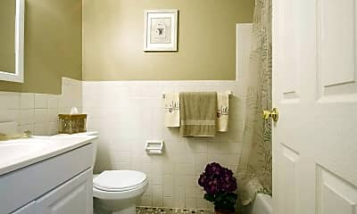 Bathroom, Fox Run Apartments, 2