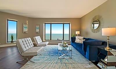 Living Room, 950 N Michigan Ave, 1