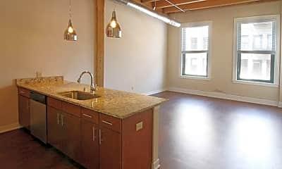 Kitchen, Chicago Street Lofts, 1