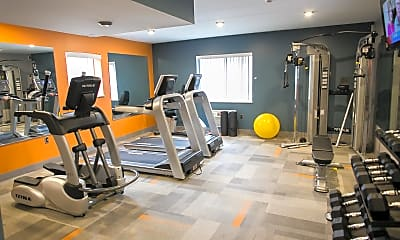 Fitness Weight Room, Camelot Apts, 2