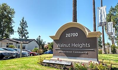 Community Signage, Walnut Heights Apartments, 1