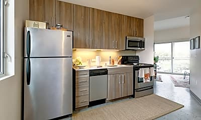 Kitchen, The Loop Isla Vista - PER BED LEASE, 0