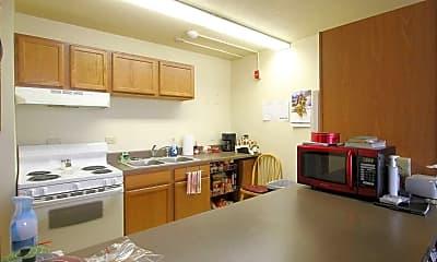 Kitchen, Trinity Tower Senior Apartments, 1
