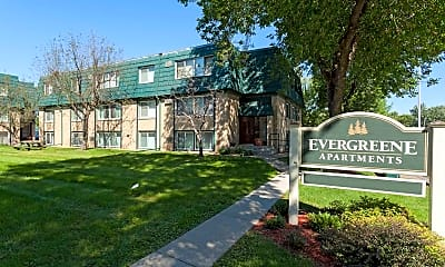 Community Signage, Evergreene Apartments, 0