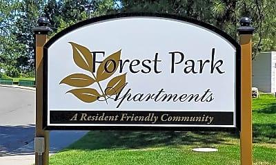 Community Signage, Forest Park Apartments, 0