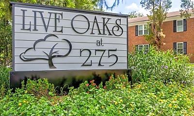 Community Signage, Live Oaks at 275, 2