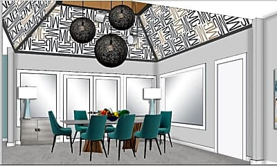 Dining Room, Moon Grove Apartments, 0