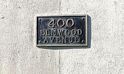 Community Signage, 400 Elmwood, 2