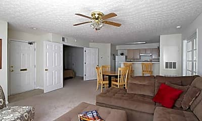 Living Room, Willow Oaks Apartments, 1