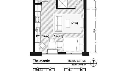 Building, 500 E 14th St, 2