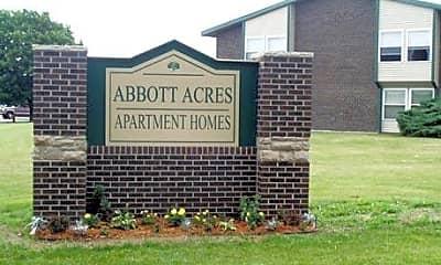 Community Signage, Abbott Acres Apartments, 2