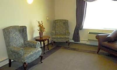 Living Room, Oak Village Square Apartments, 1