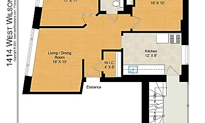 1414 - 1 Floorplan.jpg, 1414 W Wilson Ave Apt: 3, 2