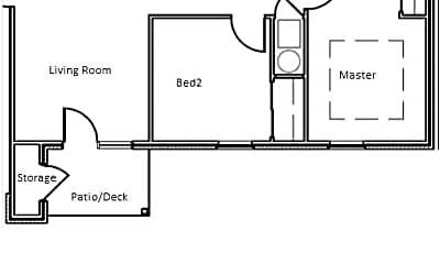 Front Unit layout.jpg, 7914 Moss Creek Drive, 2