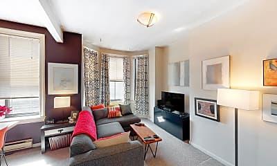 Living Room, 23 Cortes Street, Unit 8, 1