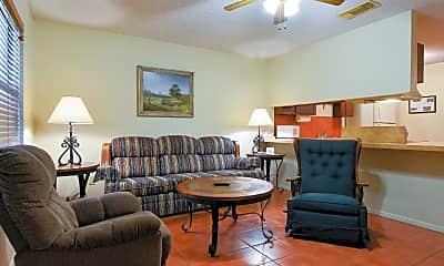 Living Room, Texan Guest Ranch Apartments, 1