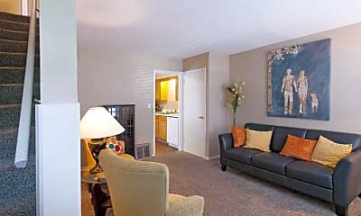Living Room, Brentwood Park Apartments, 0