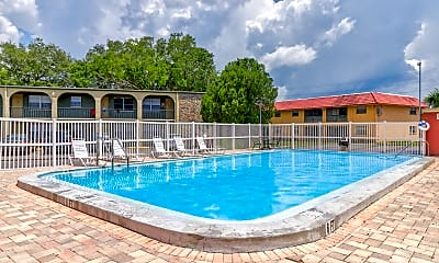 Pool, Windtree Apartments, 1