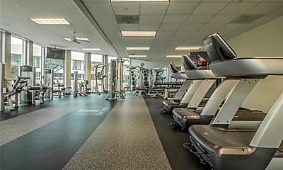 Fitness Weight Room, 500 Throckmorton St 2004, 2
