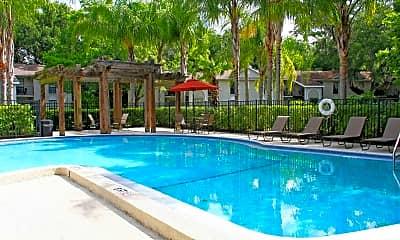Pool, Grand Oaks Apartments, 2