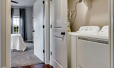 clothes washing area with natural light, hardwood flooring, and separate washer and dryer, Sullivan Square, 2