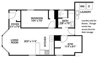 Bedroom, 1951 W Evergreen Ave, 2
