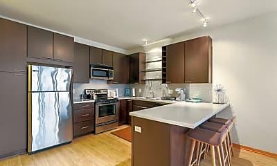 Kitchen, Blue Apartments, 1