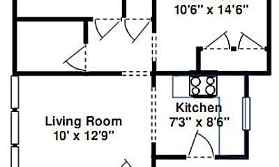 Building, 4501 N Oakley Ave, 2