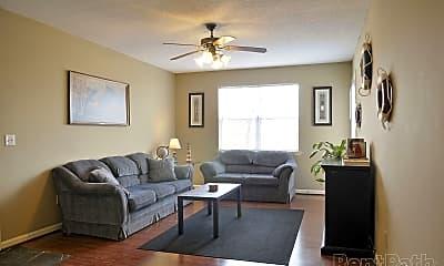 Living Room, Park Knoll Apartments, 0