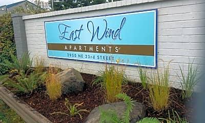 Community Signage, East Wind Apartments, 0