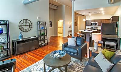 Living Room, Rathbun Lofts, 1