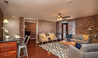 Living Room, 2933 Baltimore Ave #200, 1