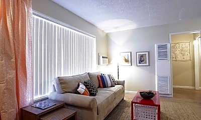 Living Room, Las Brisas Apartments, 1