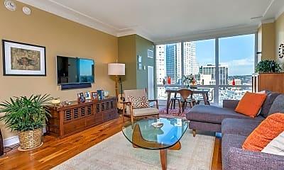 Living Room, 1 Renaissance Square 16C, 1
