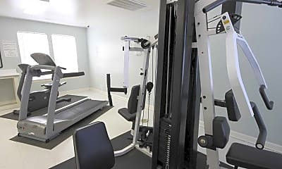 Fitness Weight Room, Briarcliff Villas, 1