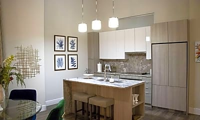 Kitchen, City Club Apartments CBD Detroit, 2
