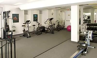 Fitness Weight Room, Courtyard at Prospect, 1